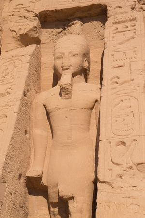 Statue of the Queen Hathor at Temple of Hathor at Abu Simbel  Egypt   photo