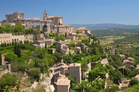 고르 드 프로방스, 프랑스의 언덕 마을의 전망이 마을은 전형적인 프로방스 문자가