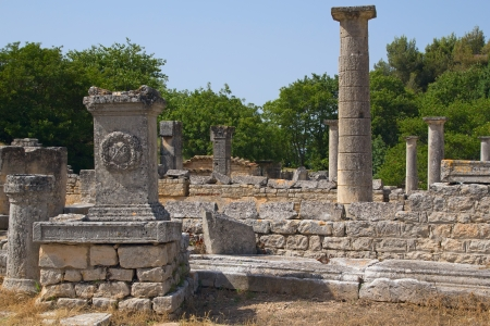 Glanum originally founded by the Greeks and after them the Romans took possession of this region. Stock Photo - 14560150
