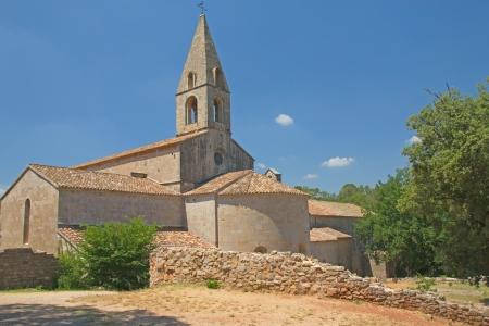 프랑스의 시토 수도회의 주문 Thoronet 수도원 스톡 콘텐츠