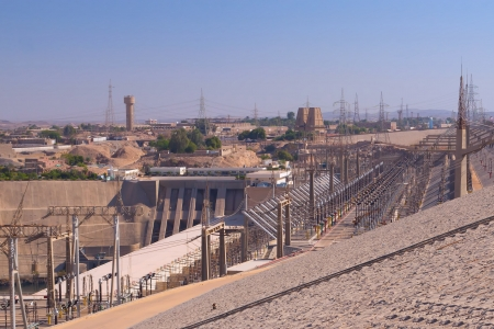Hydroelectric power plant in Aswan dam   Egypt   This plant produces over 70  of the electricity for all of Egypt