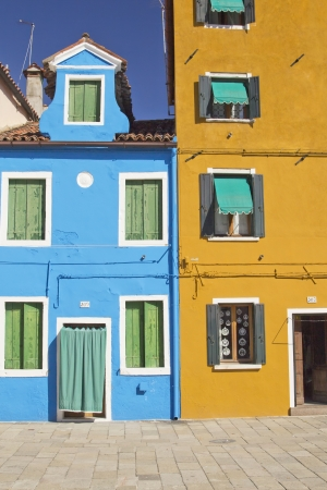 Color houses in Venice island Burano  Italy