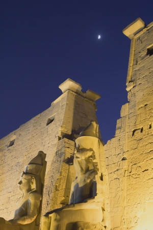 Night view of the entrance to the Palace Luxor  Egypt