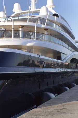 of irradiated: Yacht deck irradiated with light of sunset  Rovinj, Croatia
