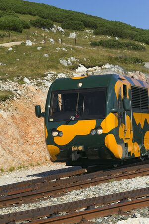 schneeberg: Mountain railway in Schneeberg  Austria, Europe   Detailed view