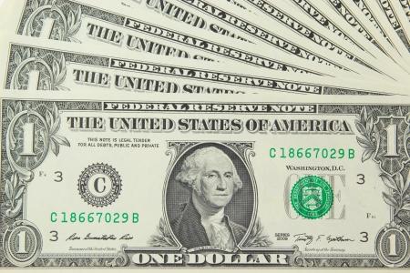 Background with money US one dollar bills  版權商用圖片