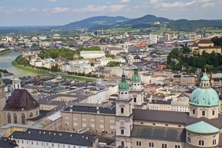 SALZBURG-AUG 8  Aerial view of Salzburg  Salzburg photo