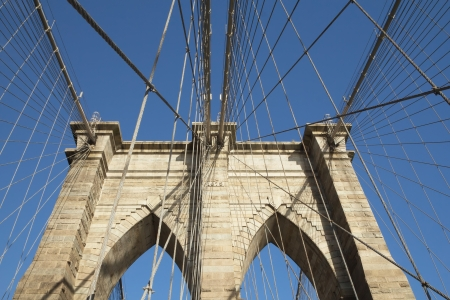 Brooklyn Bridge pillar  New York City, USA  photo