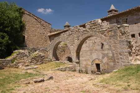 Residues arches in Thoronet Abbey from the Cistercian order  Provence, France