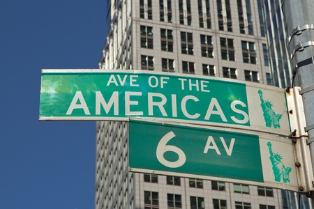 sixth: NEW YORK CITY-SEPT 22: Sixth Avenue ? officially Avenue of the Americas is a major thoroughfare in New York City