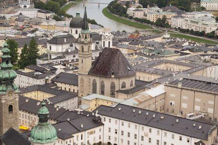 Aerial view of Salzburg  Franciscan Church  Austria Stock Photo - 17192848