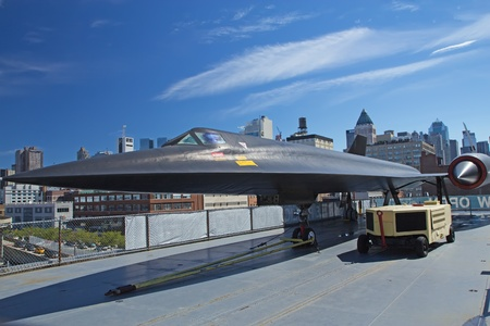 NEW YORK - SEPT 19: Lockheed A-121 at Intrepid Sea, Air & Space Museum since 1982 has become a national icon. More than 915,000 people visit each year. September 19, 2012 in New York City, USA. Stock Photo - 17393365