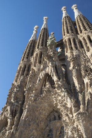 Sagrada Familia in Barcelona  Catalunya, Spain   Vertically