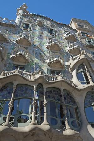 catalunya: Casa Battlo in Barcelona  Catalunya, Spain   Vertically  Stock Photo