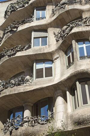 Casa Mila in Barcelona  Vertically  Catalunya, Spain  photo