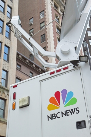 parable: NEW YORK CITY - SEPT 22: NBC News aired the first news program in American broadcast television history on February 21, 1940. September 22, 2012  in Manhattan, New York City.