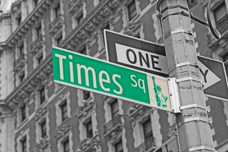 Street signs for Times Square in Manhattan (New York City) photo