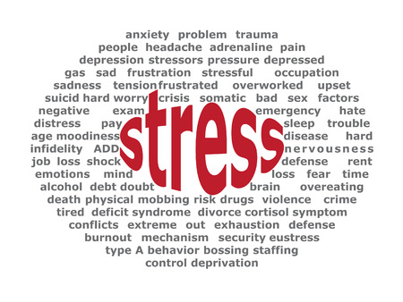 Background elliptical illustration of negative effects of stress Vector