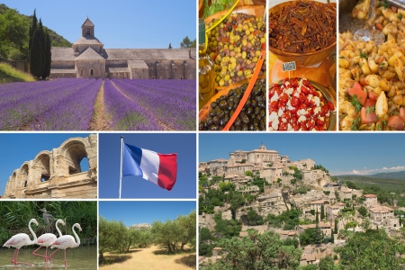 arles: Provence famous landmarks picture collage  Provence, France