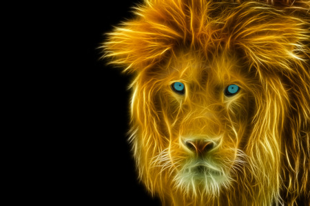 ライオンの頭の詳細ビュー