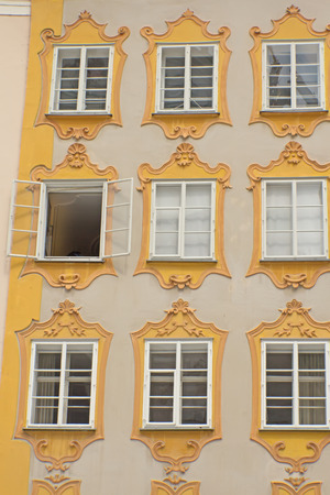 mozart: Birthplace of Wolfgang Amadeus Mozart (Salzburg, Austria). Vertically.