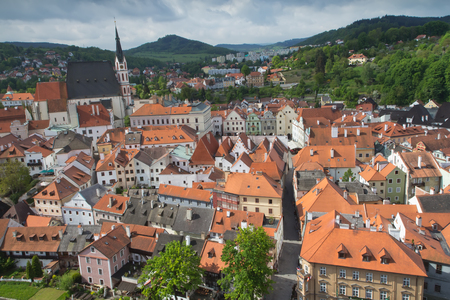 Old town of Cesky Krumlov (Czech Republic, Central Europe) photo