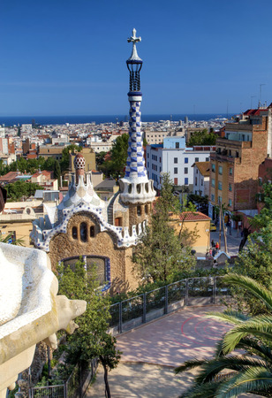 guell: Park Guell in Barcelona