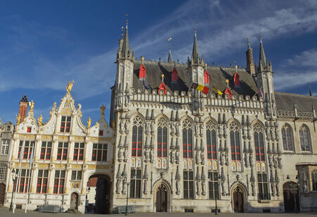 The Town Hall (Stadhuis) and the Burg Square in Bruges (Belgium) photo