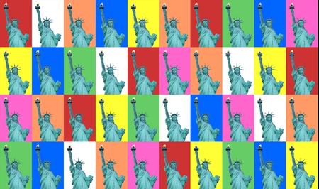 lady liberty: Collage colorido de Lady Liberty. (Nueva York)