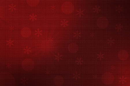 brighter: Dark red Christmas background with dark red circles and snowflakes. The upper left  part and right  bottom part are brighter. Sacking textured. Stock Photo