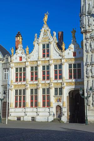 anagrafica: Il Burg piazza di Bruges (Belgio). Il Registro Civile Vecchio in stile rinascimentale.