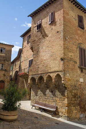 volterra: Old stone houses in the historic center of Volterra (Tuscany, Italy)