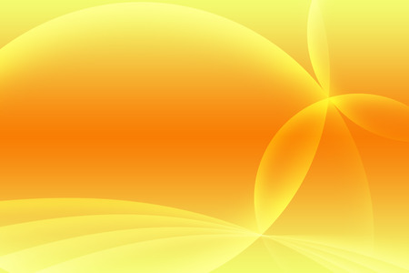 Abstract yellow and orange background. Intersecting arcs background. Reklamní fotografie
