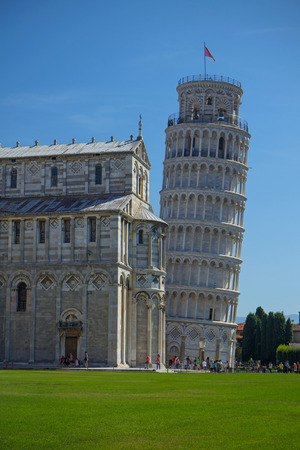 declared: PISA - AUG 29: In 1987, the Leaning Tower of Pisa was declared a Unesco World Heritage Site, along with the entire Piazza Del Duomo.August 29, 2014 in Pisa.