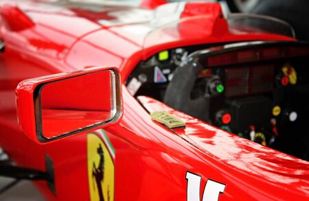 SUMPERK - DEC 19, 2009: The Ferrari F310, and its evolution, the F310B, were the Formula One driven by Michael Schumacher and Eddie Irvine in 1996 and 1997 seasons. December 19, 2009 in Sumperk, Czech Republic Editorial