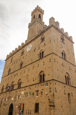 priori: The Palazzo dei Priori is the most ancient palace in the Piazza dei Priori (Volterra, Tuscany, Italy)