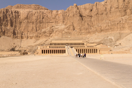 mortuary: TEMPLE OF HATSHEPSUT- NOV 03: The Mortuary Temple of Hatshepsut is one of the most beautiful of all of the temples of Ancient Egypt located at Deir el-Bahri . November 03, 2011 in Hatshepsut Temple, Egypt.