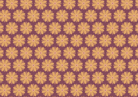 yellow ochre: Autumn floral pattern in ochre ang dark yellow color shades. Dark red background.