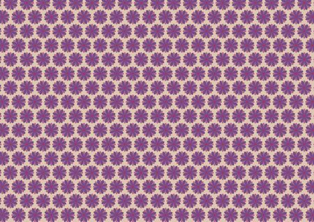shades of grey: Floral pattern in purple and violet color shades. Grey background.
