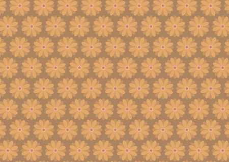 ochre: Autumn floral pattern in ochre ang dark yellow color shades. Ochre background.