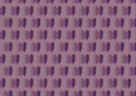 single object: Seamless pattern in purple colors is composed of four lines of purple shades linked into a single object. Purple background.