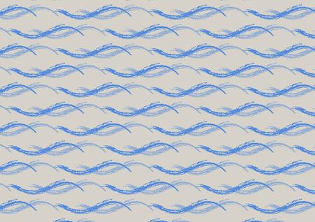 유행 회색 배경에 푸른 바다 파도의 원활한 패턴. 벡터 일러스트 레이 션.