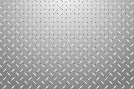 aluminum sheet: Stucco embossed aluminum sheet vector background. Grey background with light at the upper edge of the vector.