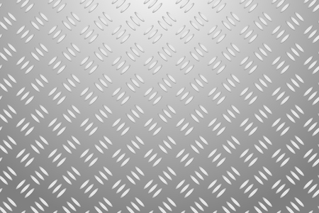 embossed: Aluminium embossed sheet vector background of three embossed shapes. Grey background with light at the upper edge of the vector.
