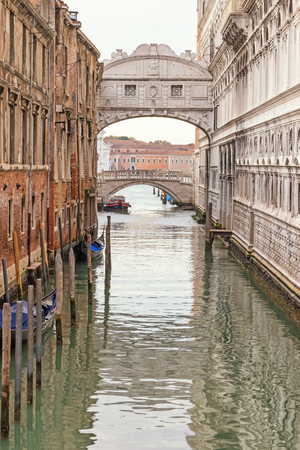 edited photo: Photo of the Bridge of Sighs (Ponte dei Sospiri ) in Venice (Italy). Edited as a vintage photo.