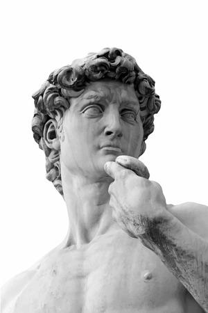 Closeup view of the Davis statue. 向量圖像