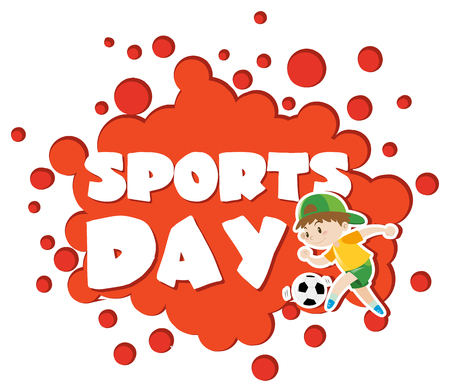 sports day: Poster design with sports day theme illustration