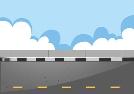 Scene with empty road illustration