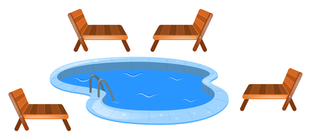 Four Seats Around Swimming Pool Illustration Royalty Free Cliparts Vectors And Stock Image 63492921