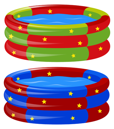 Rubber swimming pool in two colors illustration Illustration